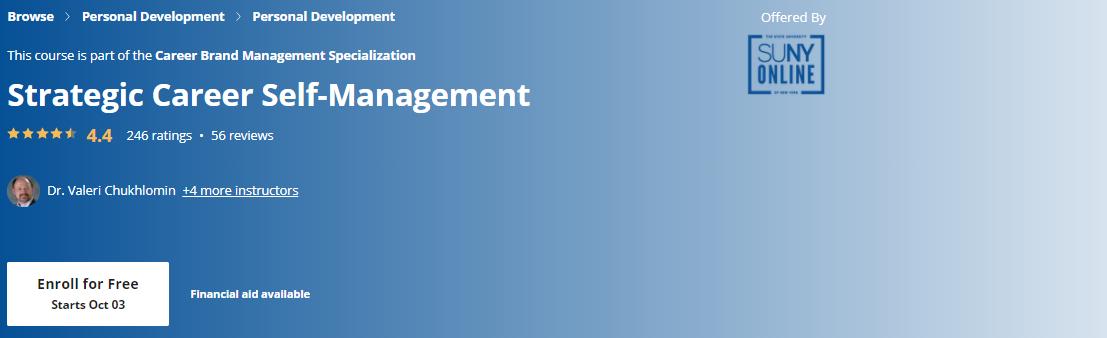 Strategic Career Self-Management