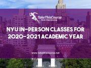 NYU In person Classes