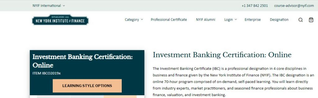 banking certification course