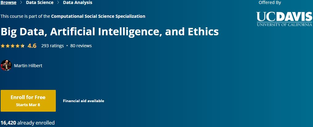 Big Data, Artificial Intelligence, and Ethics