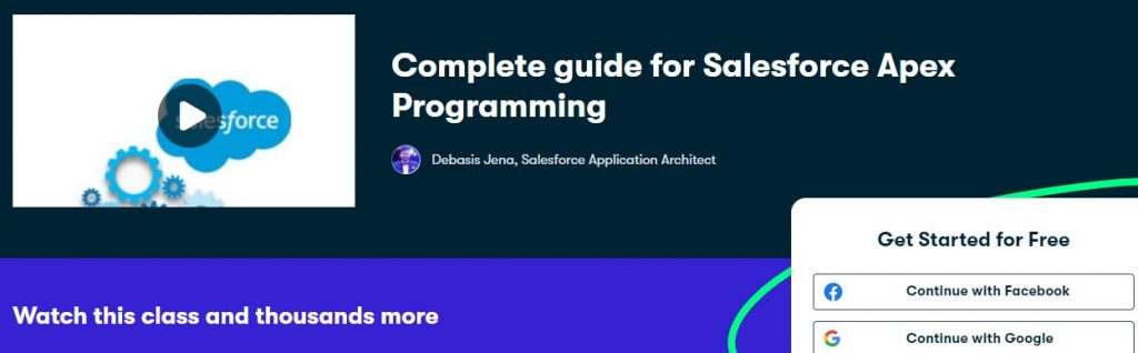 Complete guide for salesforce apex