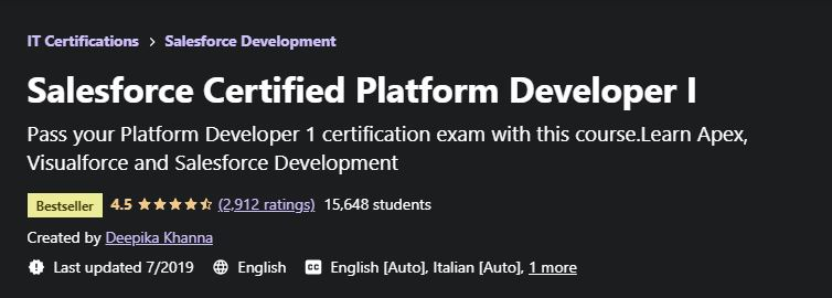 Salesforce certified Platform