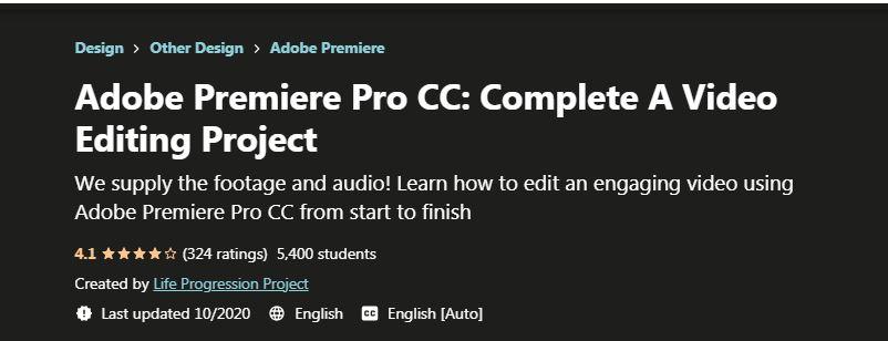 Adobe Premiere Pro CC Complete A Video Editing Project