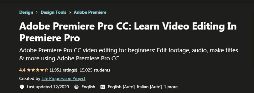 Adobe Premiere Pro CC Learn video Editing in Premiere Pro