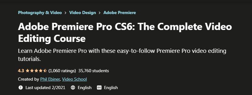 Adobe Premiere Pro CS6 The Complete Video Editing Course