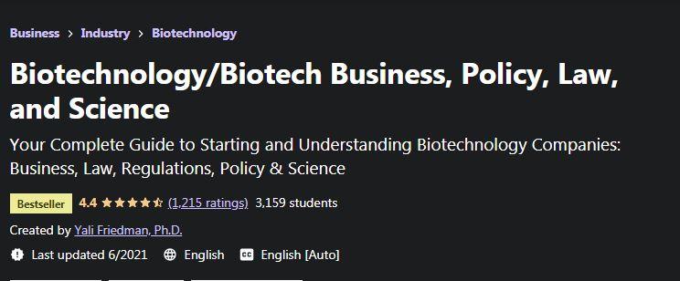 Biotechnology biotech business