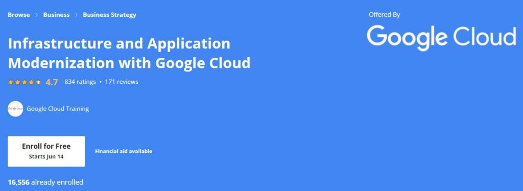 Infrastructure and Applicstion Modernization with google Cloud