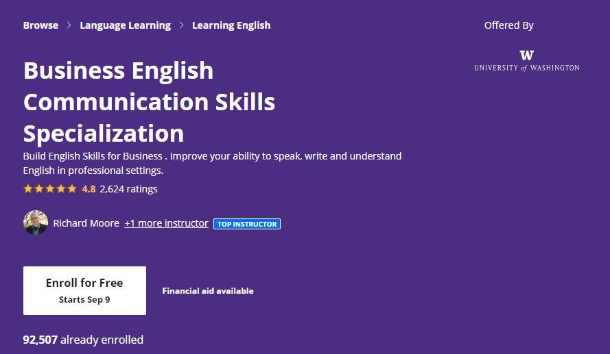 Business english commmunication skills speacialization