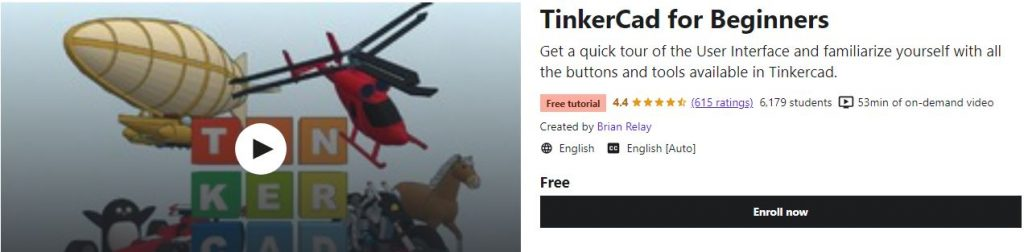Free TinkerCad Course for Beginners