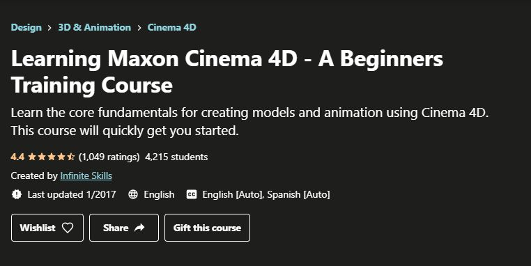 Learning Maxon Cinema 4D