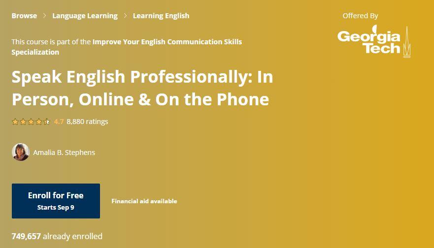 Speak english Professionally