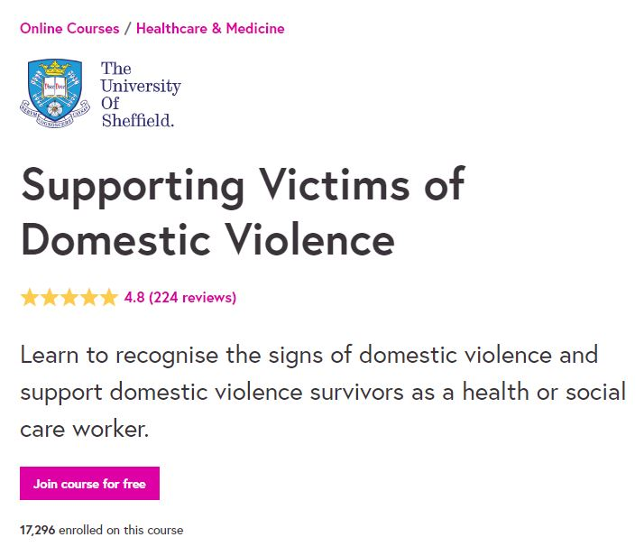 Supporting victims of domestic violence