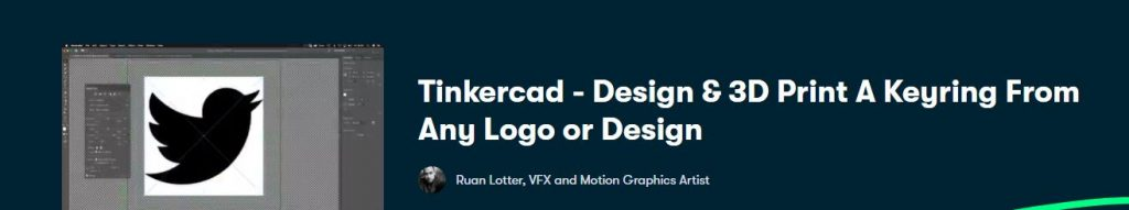 Tinkercad - Design & 3D Print A Keyring From Any Logo or Design