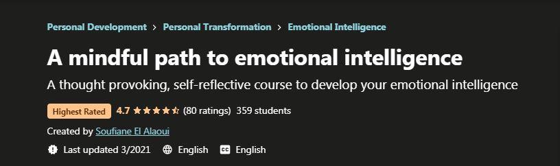 A Mindful path to emotional intelligence