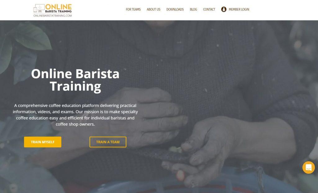 Online barista training