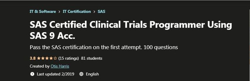 SAS Certified Clinical Trials Programmer Using SAS 9 Acc