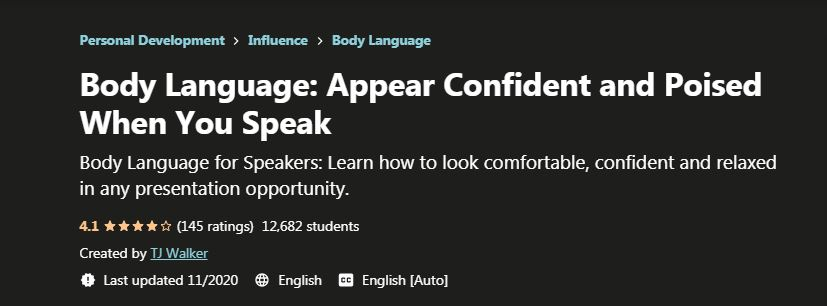 Appear confident and poised when you speak