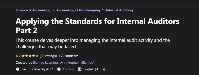 Applying the Standards for internal auditors