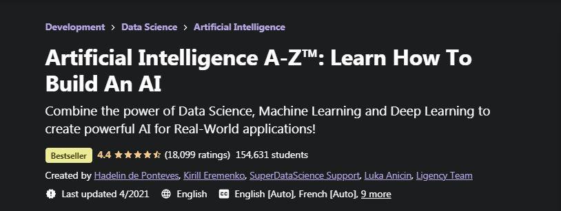 Artificial Intelligence A Z