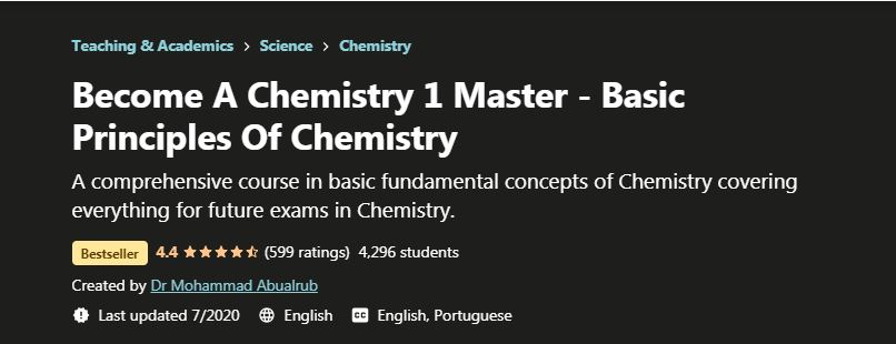 Become a Chemistry 1 Masster Basic Principles of chemistry