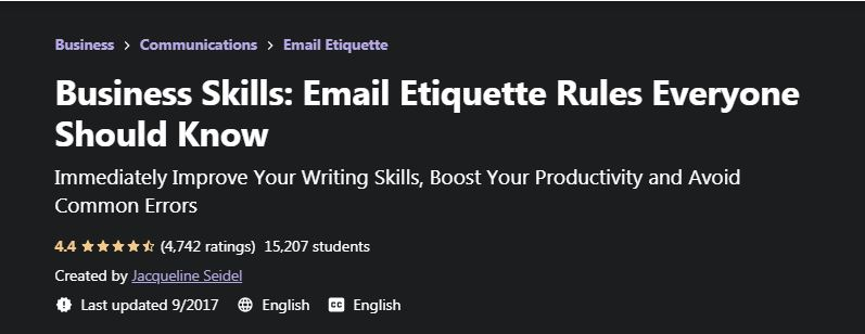 Business Skills Email Etiquette Rules Everyone