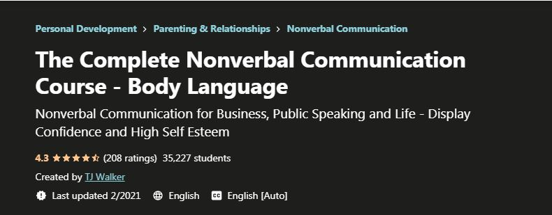 Complete non verbal communication course