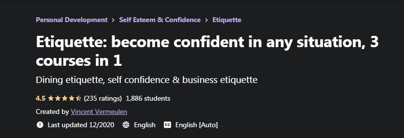 Etiquette become confident in any situation