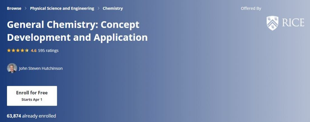 General Chemistry Concept Development and Application