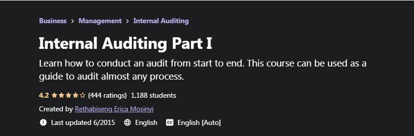 Internal Auditing Part 1