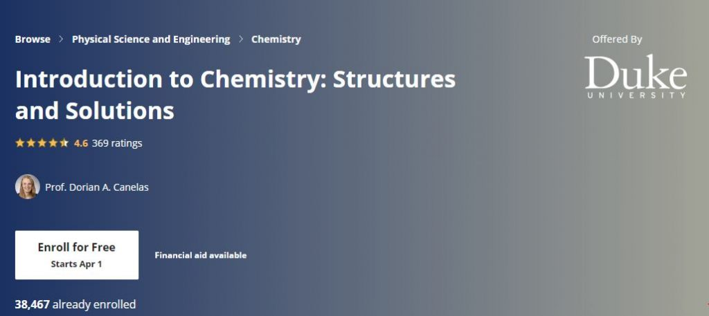 Intro to chemistry structures and solutions