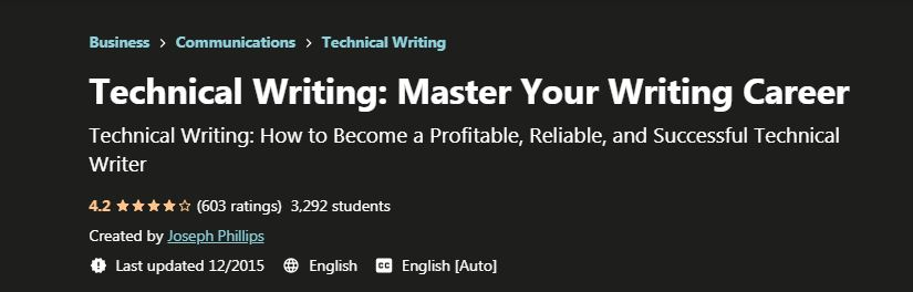Master your writing Career