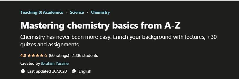 Mastering chemistry Basics from A-Z