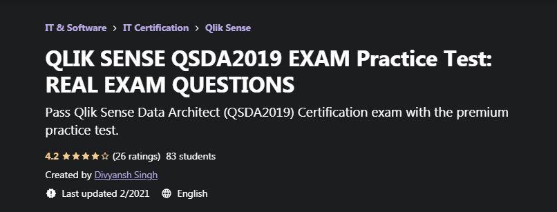 Qlik Sense QSDA2019 Exam Pratice Test