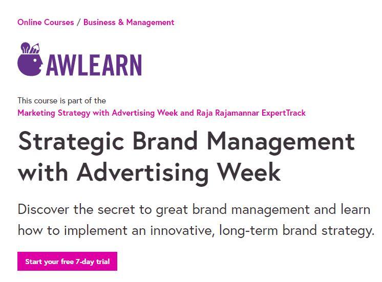 Strategic brand management with advertising Week