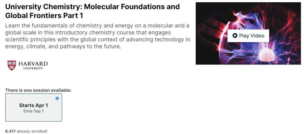 University Chemistry Molecular Foundations and Global Frontiers