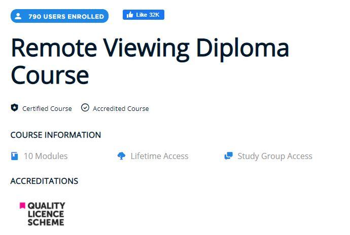 Remote viewing Deploma