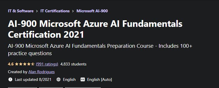 AI 900 Microsoft Azure