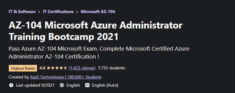 AZ 104 Microsoft Azure Administrator