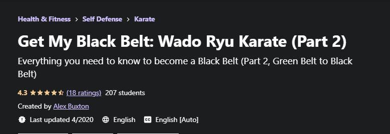 Get my black belt part 2