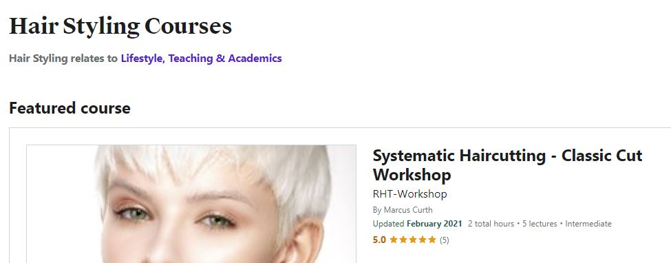 Hair styling Courses